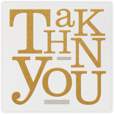Storybook Thank You - Metallic - Paperless Post -