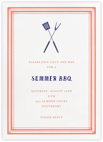 Flip The Burger - Red - Mr. Boddington's Studio - Summer entertaining invitations