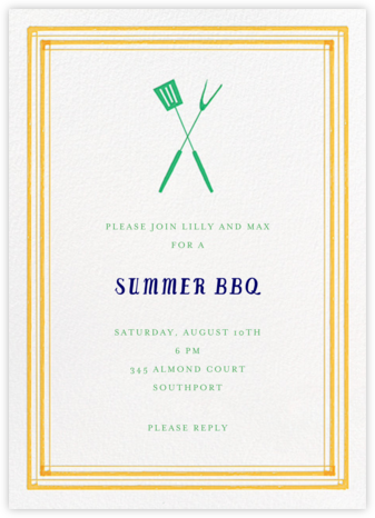 Flip The Burger - Yellow - Mr. Boddington's Studio - Summer Party Invitations
