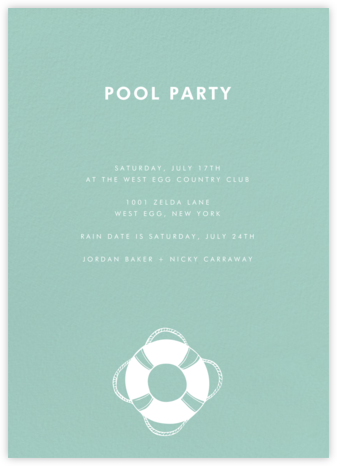 Celadon (Tall) - Paperless Post - Summer entertaining invitations