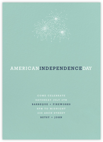 Celadon (Tall) - Paperless Post - 4th of July invitations