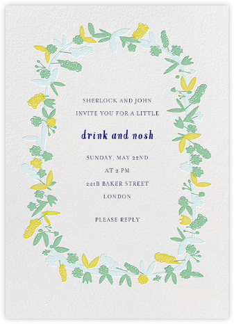 Fresh Cut Flowers - Green - Mr. Boddington's Studio - Summer Party Invitations