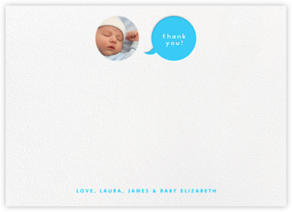 Polka Dot Baby (Thank You) - Blue - The Indigo Bunting - Online Cards