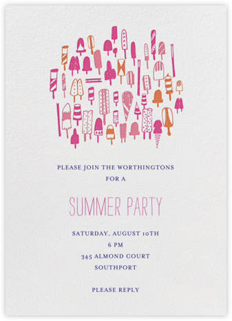 Lobster Bake - Pinks - Mr. Boddington's Studio - Pool Party Invitations