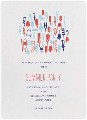 Lobster Bake - Primaries - Mr. Boddington's Studio - Summer Party Invitations