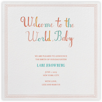 The Newest Member - Brights - Mr. Boddington's Studio - Babylist Baby Shower Invitations