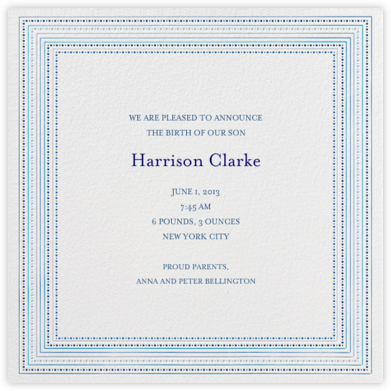 Ribbons for Baby - Blues - Mr. Boddington's Studio - Birth Announcements