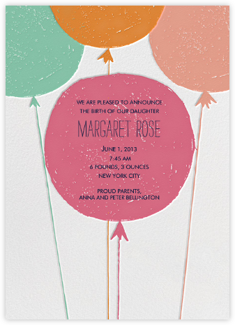 Floating with Love - Macaron - Mr. Boddington's Studio - Birth Announcements