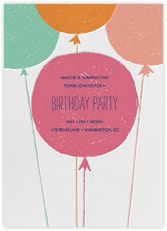 Floating with Love - Macaron - Mr. Boddington's Studio - First Birthday Invitations