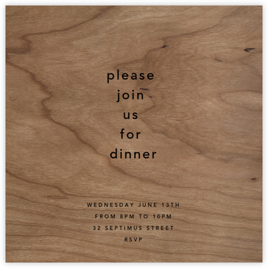Wood Grain Light (Square) - Paperless Post - Wedding Invitations