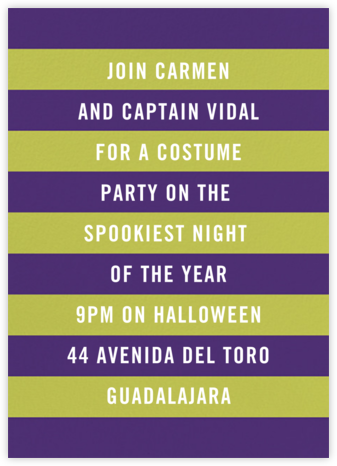 Wicked - Mulberry/Chartreuse - Paperless Post - Halloween invitations