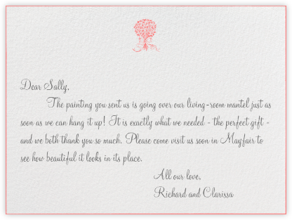 Edge Stain - Coral Horizontal - Paperless Post - Wedding thank you notes