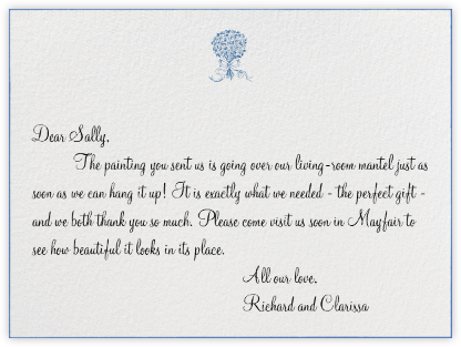 Edge Stain - Lapiz Lazuli Horizontal - Paperless Post - Wedding thank you notes