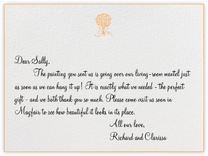 Edge Stain - Tangelo Horizontal - Paperless Post - Wedding thank you cards