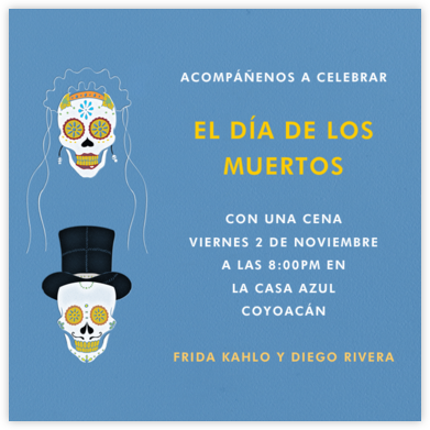 Dia de los Muertos - Dempsey Blue - Paperless Post - Halloween invitations