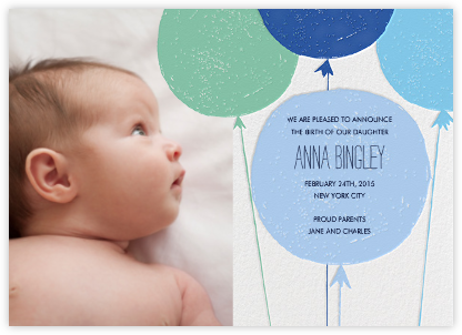 Baby Cheeks - Blue - Mr. Boddington's Studio - Birth announcements
