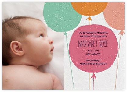 Baby Cheeks - Macaron - Mr. Boddington's Studio - Birth Announcements