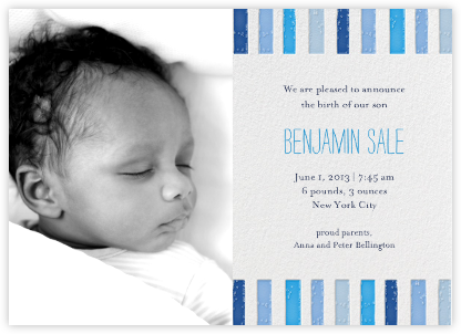 Ra Ra Little One - Blues - Mr. Boddington's Studio - Birth Announcements