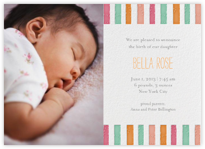 Ra Ra Little One - Brights - Mr. Boddington's Studio - Birth Announcements