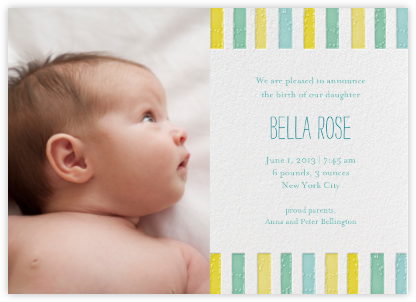 Ra Ra Little One - Sunshine - Mr. Boddington's Studio - Birth Announcements