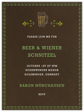 Biergarten - Paperless Post - Oktoberfest invitations