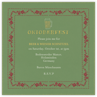 Wunderbar - Paperless Post - Oktoberfest invitations