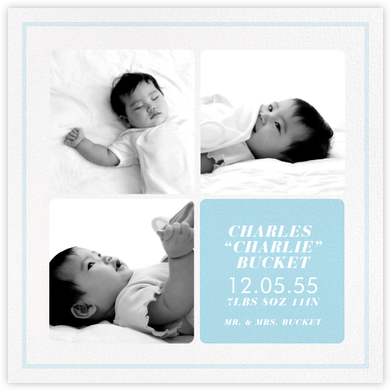 Window Pane - Harbor - Paperless Post - Birth Announcements