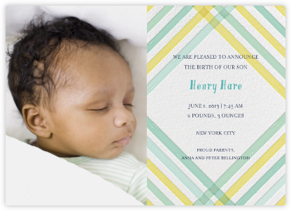 What a Darling - Sunshine - Mr. Boddington's Studio - Birth Announcements