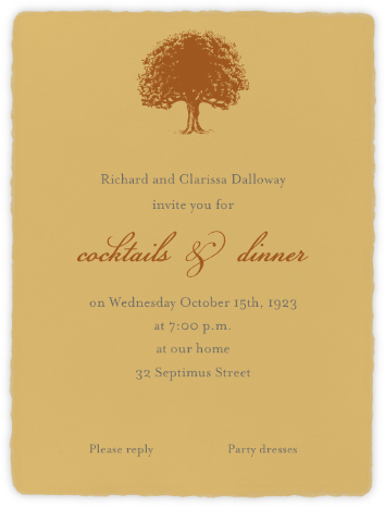 Deckle  - Apricot Tall - Paperless Post - Invitations