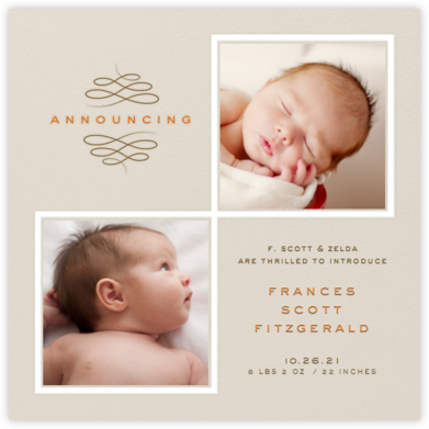 Square Duo Photos - Paperless Post - Birth Announcements