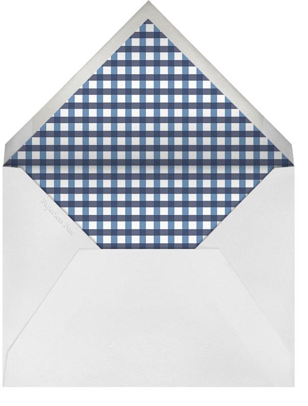 Gingham Photo - Blue - Paperless Post - Birth - envelope back