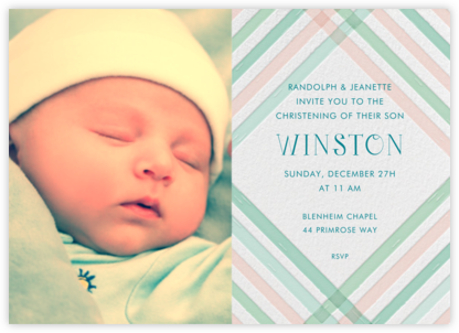 What a Darling - Pink - Mr. Boddington's Studio - Baptism invitations