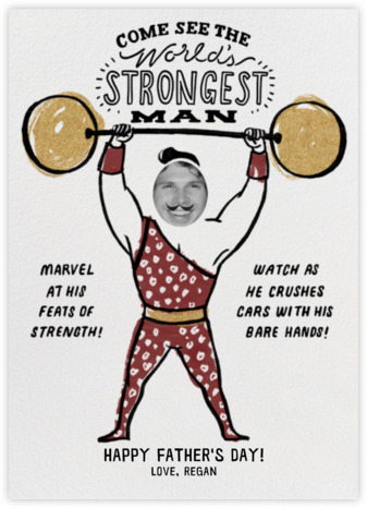 Strongman - Gold - Paperless Post - Father's Day cards