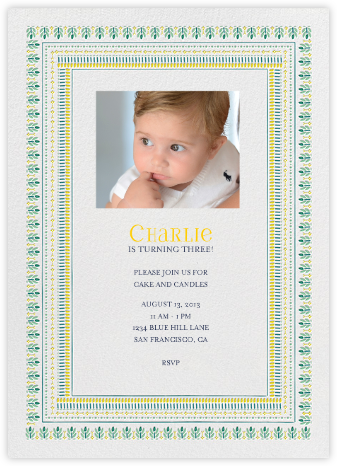 Pondi Cherry Nursery - Greens - Mr. Boddington's Studio - First Birthday Invitations