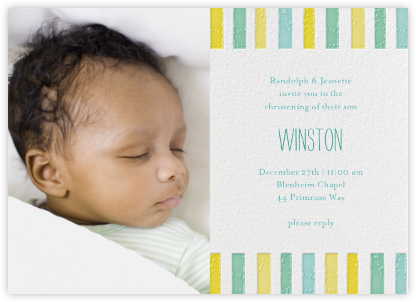 Ra Ra Little One - Sunshine - Mr. Boddington's Studio - Baptism invitations