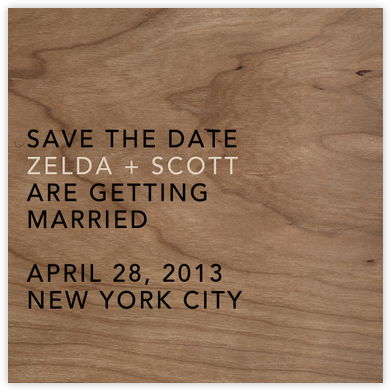 Wood Grain Light - Square - Paperless Post - Save the dates