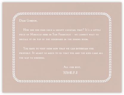 Leaf Inner White Bevel Border - Rose (Horizontal) - Paperless Post - Wedding thank you notes