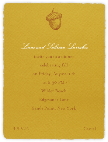 Deckle - Saffron Tall - Paperless Post - Invitations
