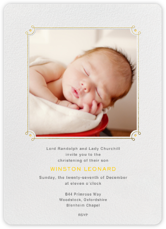 Nursery Rhyme - Paperless Post - Christening Invitations