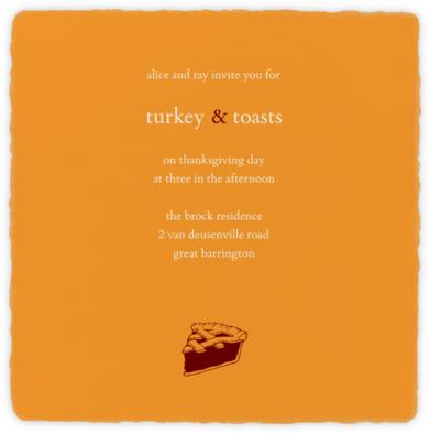 Deckle - Kumquat Square - Paperless Post -