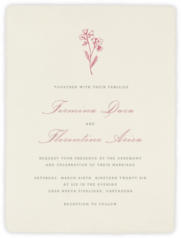 Deckle (Tall) - Cream - Paperless Post - Wedding Invitations