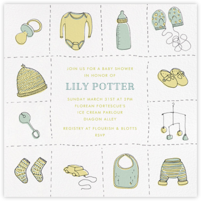 Wee Things - Neutral - Paperless Post - Baby Shower Invitations
