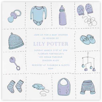 Wee Things - Blue - Paperless Post - Baby Shower Invitations