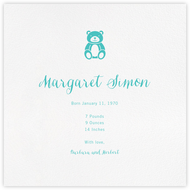 White (Square) - Paperless Post - Birth Announcements