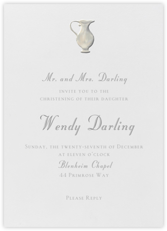 Jarra Bautismal - Paperless Post - Christening Invitations