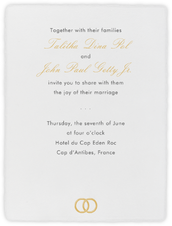 Deckle  - Ivory Tall - Paperless Post - Wedding invitations