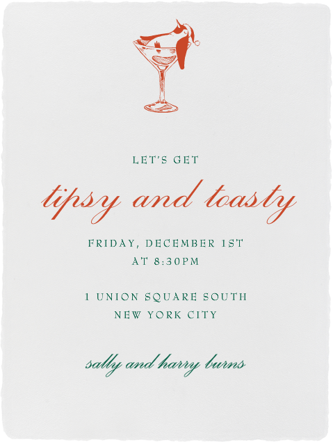 Deckle - Ivory Tall - Paperless Post - Invitations