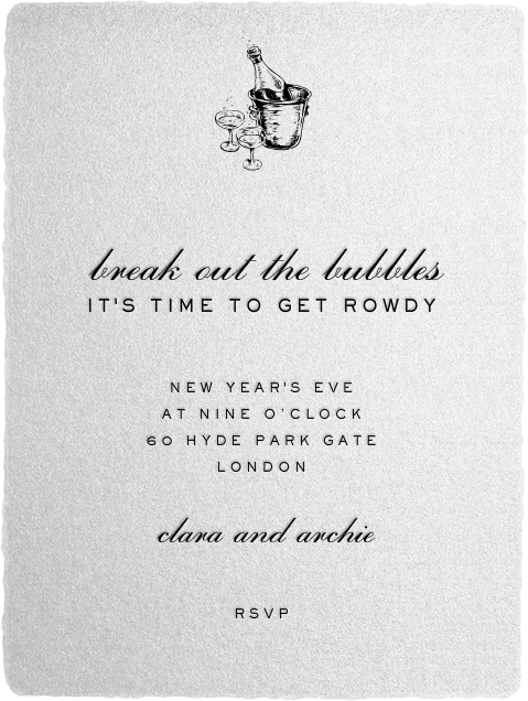 Deckle - Silver Tall - Paperless Post - New Year's Eve