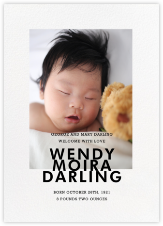 Vertical Overlap - Paperless Post - Birth Announcements