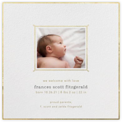 Traditional Frame - Paperless Post - Birth announcements